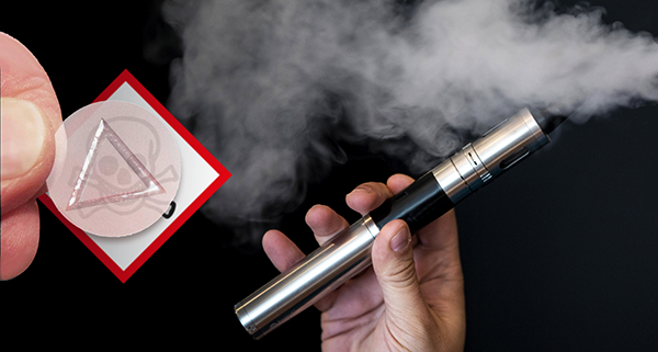 e-cigarette labelling tactile warning labels