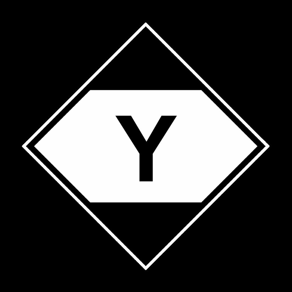 IATA limited quantity sticker with Y, IATA