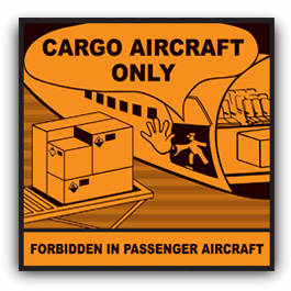Cargo Aircraft Only Label CAO label image