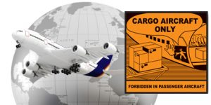 CAO label cargo aircraft only label