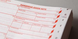 dangerous goods note