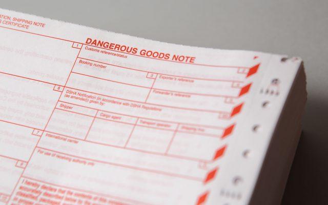 DGNs dangerous goods note