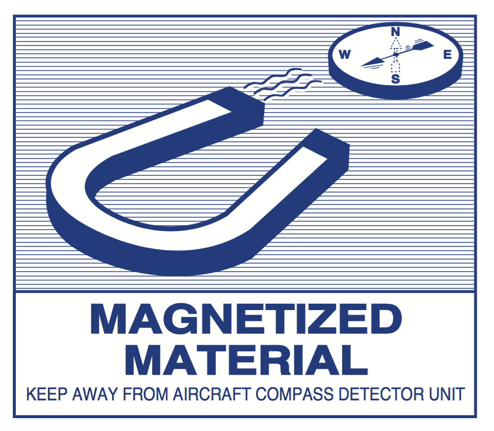 magnetized material label IATA