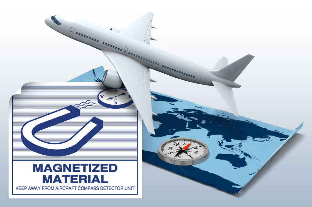 magnetized material labels IATA