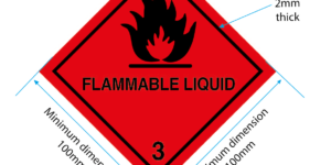 class 3 label, flammable liquid label