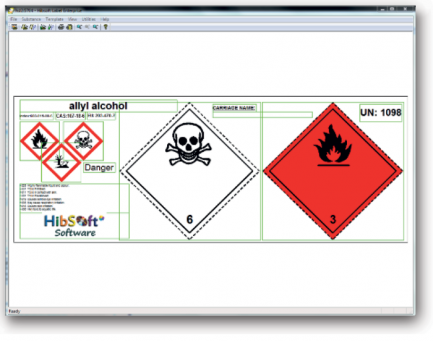 Chemical Label Software - design