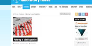 Hibiscus Plc in Laboratory News Magazine.
