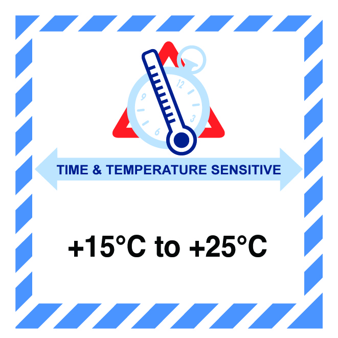 time and temperature sensitive label IATA image