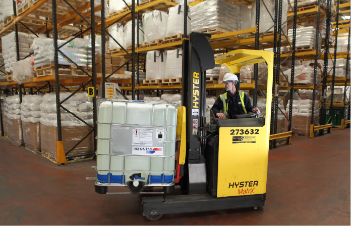 Chemical labelling - forklift chemicals factory