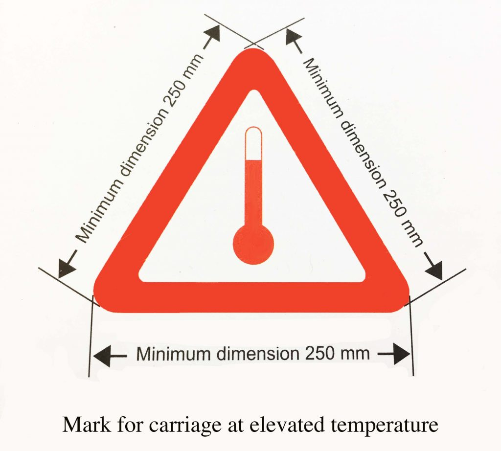 Elevated temperature label