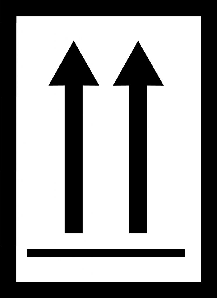 this way up label