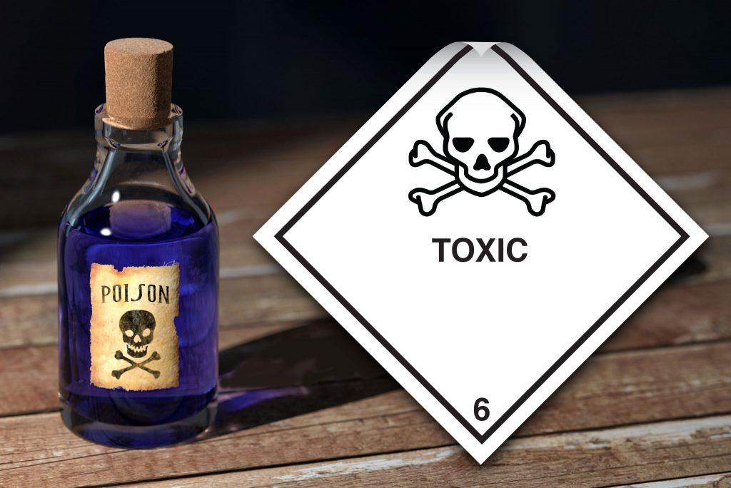 class 6 labels. toxic labels. class 6.1 label