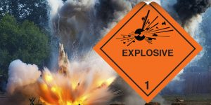 class 1 label, explosive label