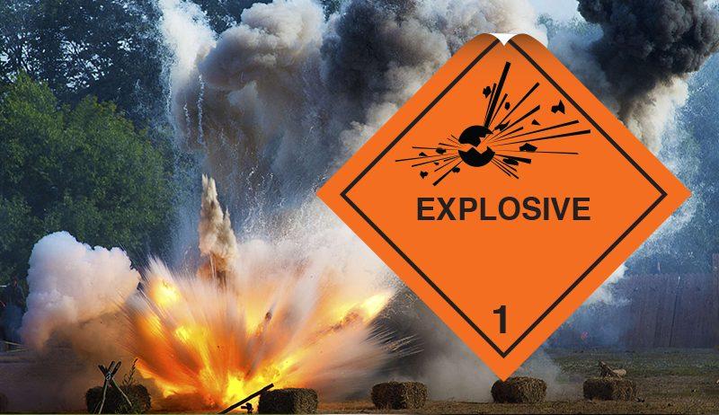 class 1 label explosive label