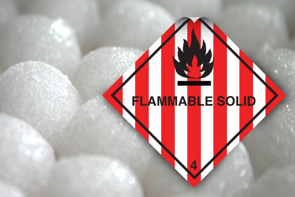 class 4 labels flammable solid label