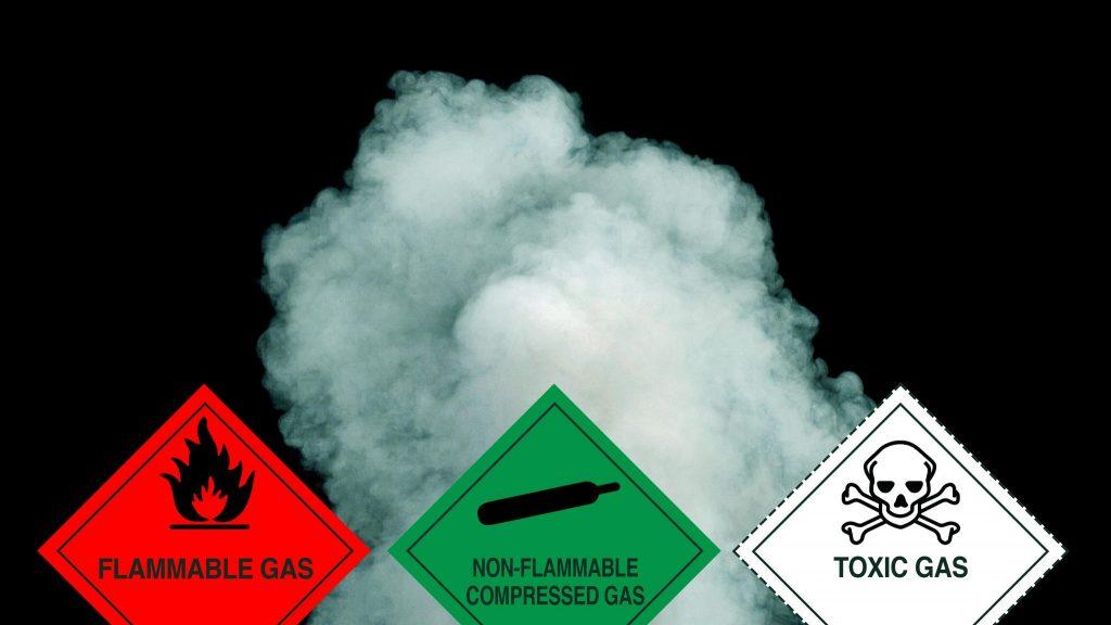 class 2 label, gas label