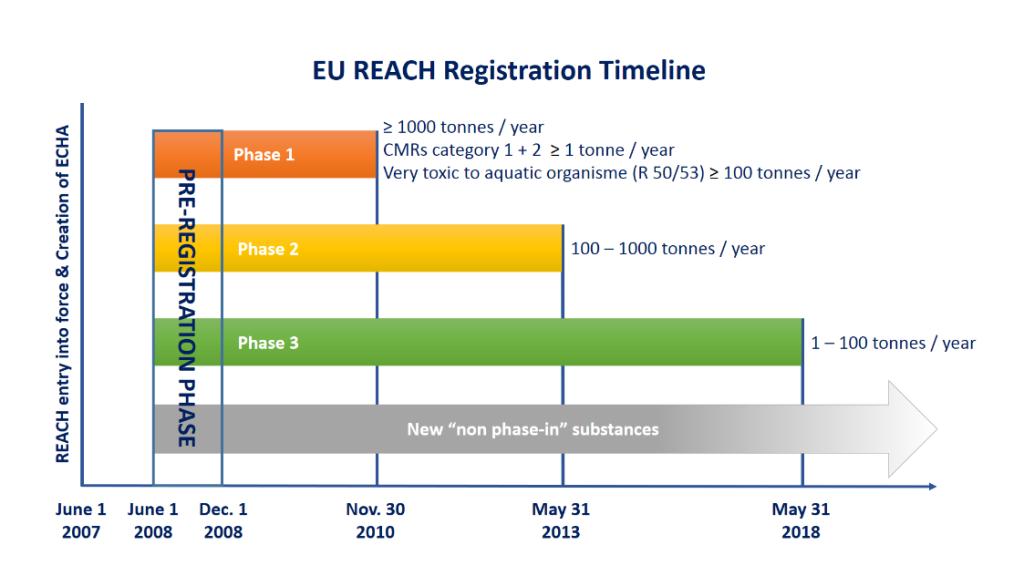 echa reach timeline