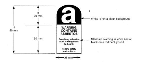 asbestos warning labels