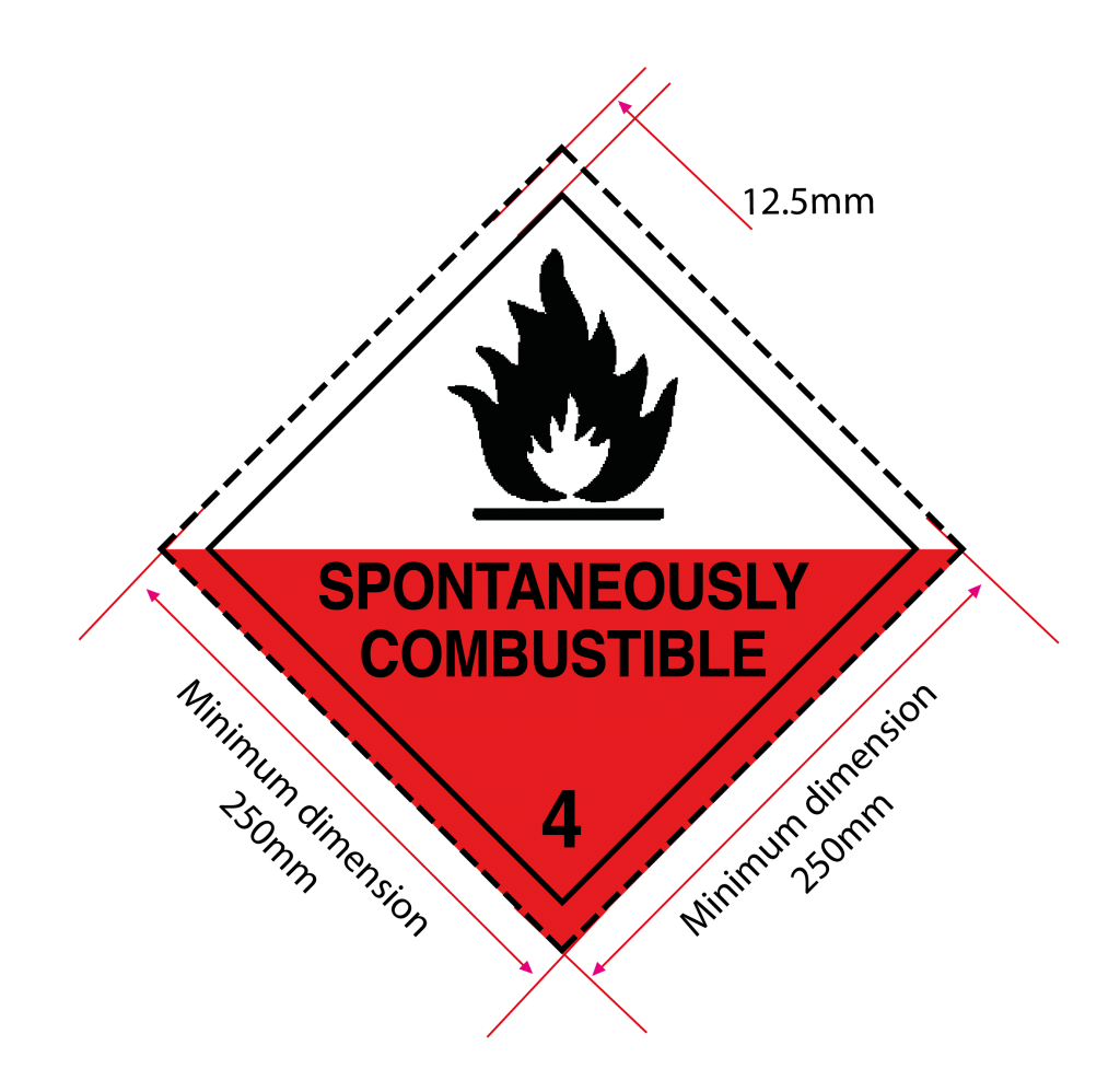 spontaneously combustible label