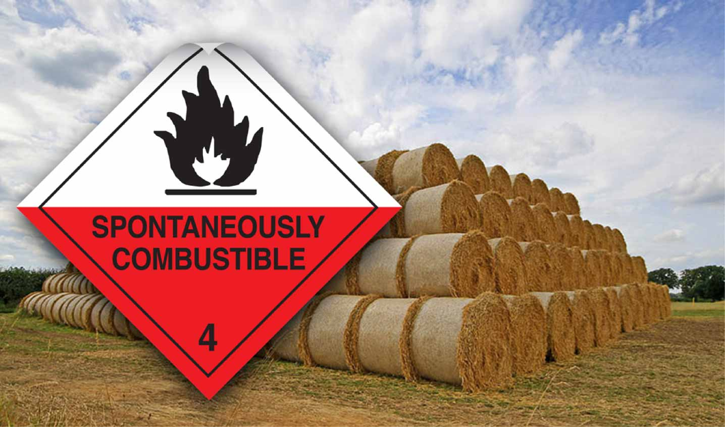 spontaneously combustible labels
