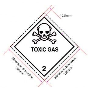 toxic gas placard, class 2 placard