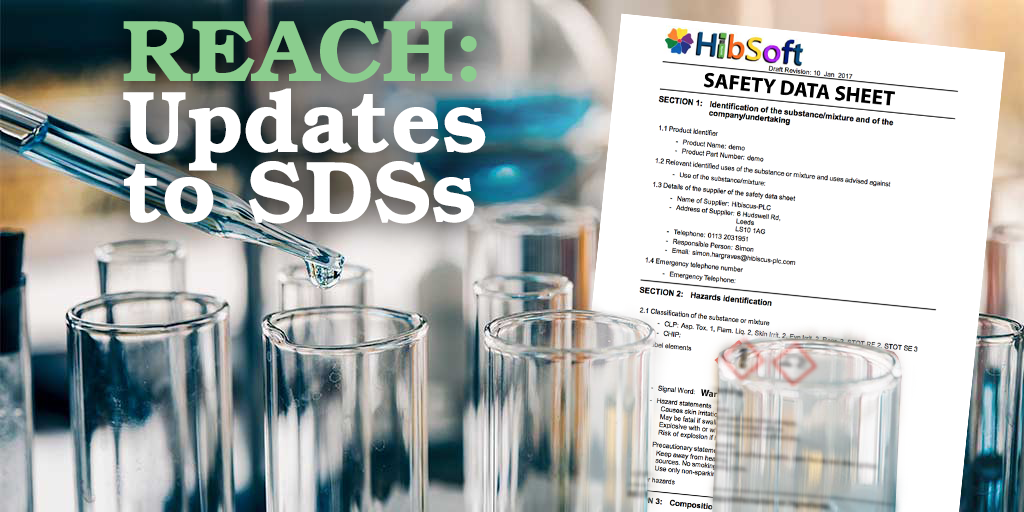 REACH SDS UPDATES
