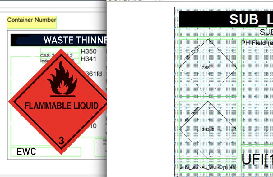hazardous waste labels, hazardous waste label, hazardous waste labelling